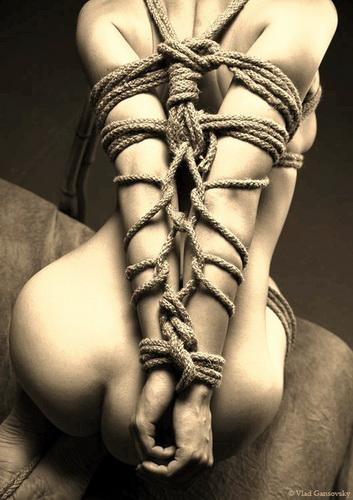 bondage shibari liens soumise